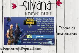La Super Mamy Invitaciones De Fortnite