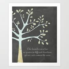 family tree style quote art print by lunarsoda society