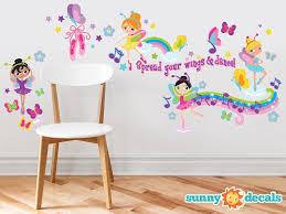 Sunny Decals Beautiful Ballerinas Fabric Wall Decal Wayfair