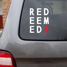 Redeemed Decal Faith Decal Jesus Decal Vinyl Decal Etsy