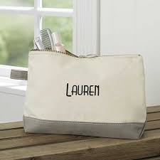 custom embroidered canvas makeup bags
