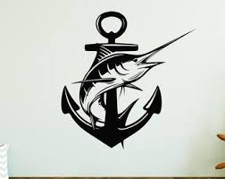 Blue Marlin Decal Etsy