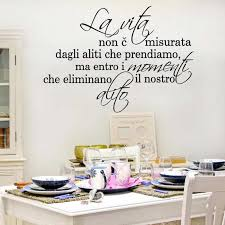 Modern The Life Not Measured Italian Quote Wall Sticker Bedroom Liiving Room Italian Family Love Quote Wall Decal Vinyl Decor Wall Stickers Aliexpress