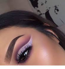 silver and purple makeup inspiring