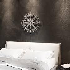 Tibetan Dharma Wheel 3d Metal Wall Art 36 W X 36 H X 0 25 D Arte And Metal Touch Of Modern