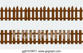 Clip Art Vector Wooden Farm Fence Vector With Flat And Solid Color Stock Eps Gg91473817 Gograph