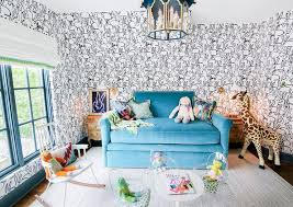 toddler room with black and white bunny