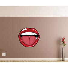 Tongue Out Lips Wall Decal Vinyl Decal Car Decal Idcolor008 25 Inches Walmart Com Walmart Com