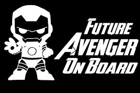 Amazon Com Baby Iron Man Future Avenger On Board Vinyl Decal Vehicle Stickers Window Stickers 15x8 Cm White Kitchen Dining