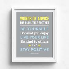 Brothers Words Wall Art Papermints