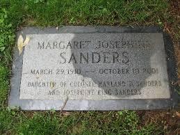 Margaret Josephine Sanders (1910 - 2001) - Genealogy