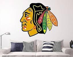 Chicago Blackhawks Nhl Wall Decal Sports Hockey Sticker Vinyl Decor Many Size Hd Ebay