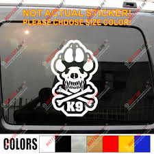 K 9 K9 Police Dog Army Car Decal Sticker Die Cut Sticker Choose Size And Color Military Decals Stickers Cutting Stickerdecal Sticker Aliexpress