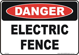 Electric Fence D10186 National Safety Signs