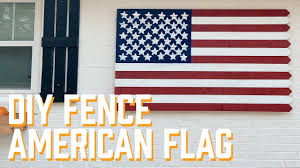 Diy Fence American Flag Youtube