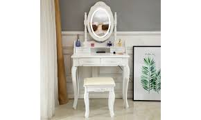 off on white makeup vanity table set
