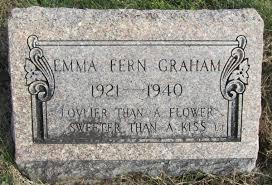 Emma Fern Graham (1921-1940) - Find A Grave Memorial
