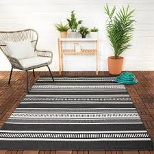 striped black outdoor rugs rugs