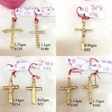 crucifix pendants genuine gold 18k 750