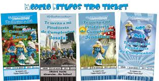 Fotonei Invitaciones Y Mas Invitaciones Tipo Ticket De Los