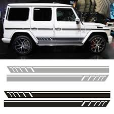 1pair 2pcs Vinyl Auto Side Skirt Car Sticker Decal For All Cars Wish