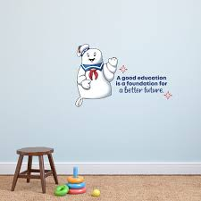 Design With Vinyl Education Stay Puft Ghostbusters Quote Cartoon Quotes Wall Sticker Art Design Decal Girls Boys Kids Room Home Decor Wall Art Vinyl 8x10 Inch Wayfair