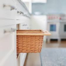kitchen island pull out baskets design