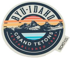 Byu Idaho University Store Byu Idaho End Game Grand Tetons Sticker