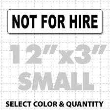 Not For Hire Magnetic Sign For Personal Transport Vehicles