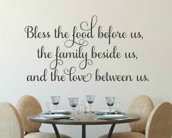 Vinyl Wall Decal Bless The Food Before Us Kitchen Wall Decal Run Wild Designs