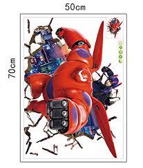 Fange Diy Removable 3d Big Hero 6 Baymax Art Mural Vinyl Waterproof Wall Stickers Kids Room Decor Nursery Decal Sticker 27 5 X19 6 Baby B017egn3r4