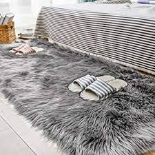 carvapet gy soft faux sheepskin fur
