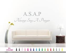 Always Say A Prayer Wall Art Decal Custom Religious Etsy