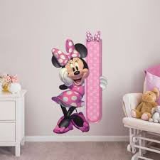 Minnie Mouse Growth Chart Giant Officially Licensed Disney Removable Wall Decal Fathead Minnie Mouse Wall Decals Minnie Mouse Bedroom Minnie Mouse Stickers