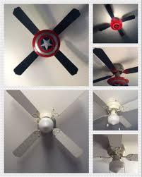 Captain America Ceiling Fan Boys Room Decor Avengers Room Bedroom Night Light