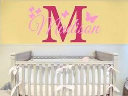 Nursery Decal Initial Name Wall Decal Childrens Room Girls Name With Butterfly Ebay