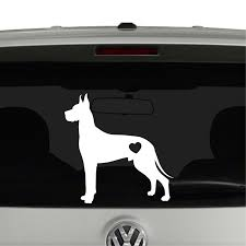 Great Dane Dog Puppy Heart Love Vinyl Decal Sticker Cosmic Frogs Vinyl