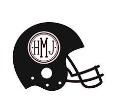 Amazon Com Custom Football Helmet Vinyl Decal Personalized Initial Sticker Perfect Coach Team Gift Handmade