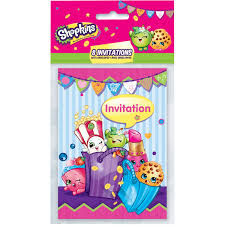 Shopkins Invitaciones 8ct Simaro Co