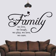 Family We Live Love Laugh Wall Sticker Wall Art Wall Etsy