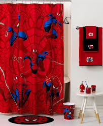 Marvel Bath Spiderman Sense Shower Curtain Macy S Superhero Bathroom Decor Superhero Bathroom Spiderman Room