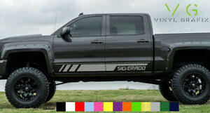 Chevrolet Chevy Silverado Vinyl Decal Sticker Graphics Kit Side Door Any Color Ebay