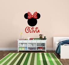 Personalized Minnie Mouse With Bow Design Vinyl Wall Decals Girls Name Wall Stickers For Kids Bedroom Decor Kids Bedroom Bajby Com Is The Leading Kids Clothes Toddlers Clothes And Baby Clothes