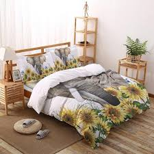 sunflower flower bedding set four sets