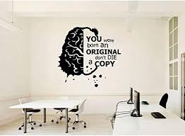 Amazon Com Perosa Wall Decal Sticker Art Mural Home Decor Wall Stickers Think More School Science Classroom Vinyl Decals Office Home Study Inspirational Slogan Decoration Wallpaper Home Kitchen