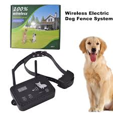 Jieyuan Wireless Electric Dog Fence System Outdoor Invisible Dog Fence Containment System Vibration Static Shock Dog Collar For Small Large Stubborn Energetic Dogs Rechargeable Waterproof