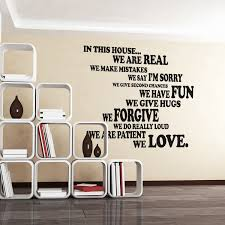Shop Walplus Family House Rule Quote Wall Art Sticker Home Diy Decor Decal Overstock 31770547