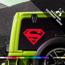 Superman Car Decal Superhero Truck Or Bumper Sticker Etsy