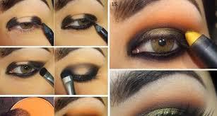 orange dazzling makeup tutorial