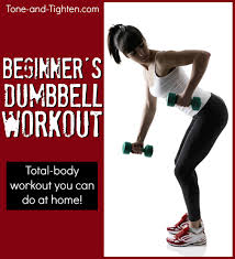 beginner s dumbbell workout at home